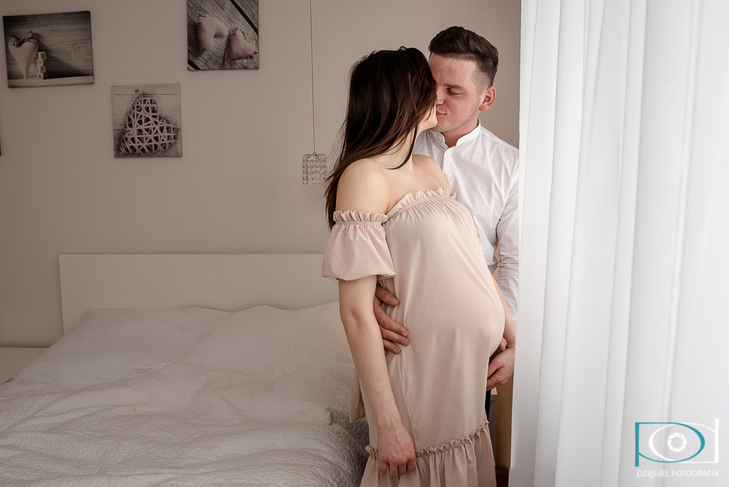 sesja ciążowa - wspólne zdjęcie - kraków