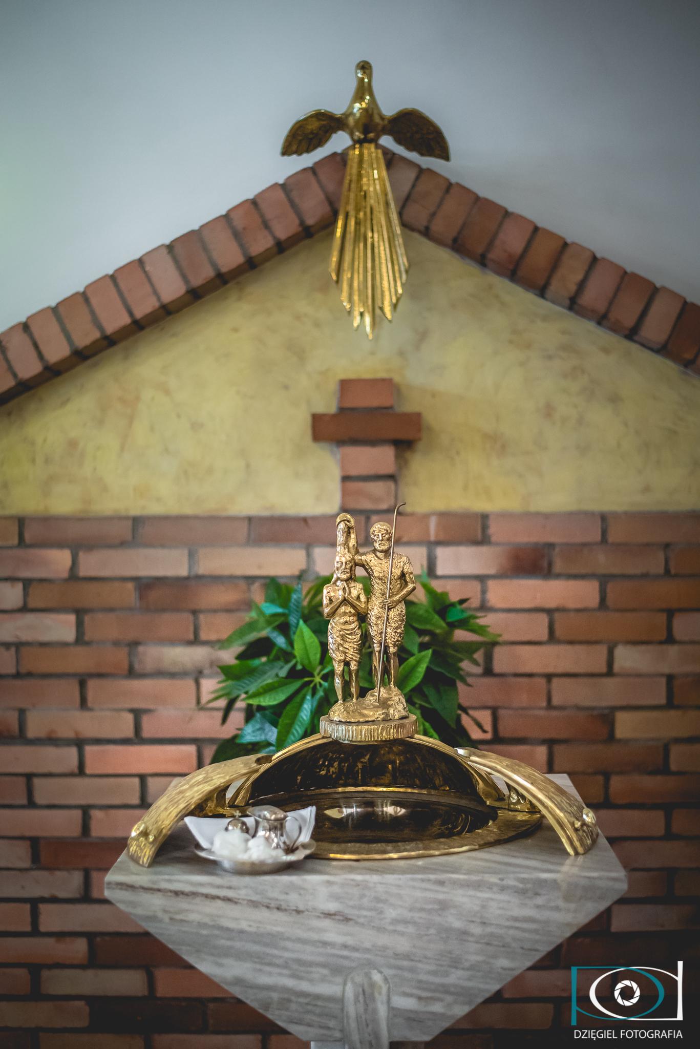 sosnowiec kościół, chrzcielnica