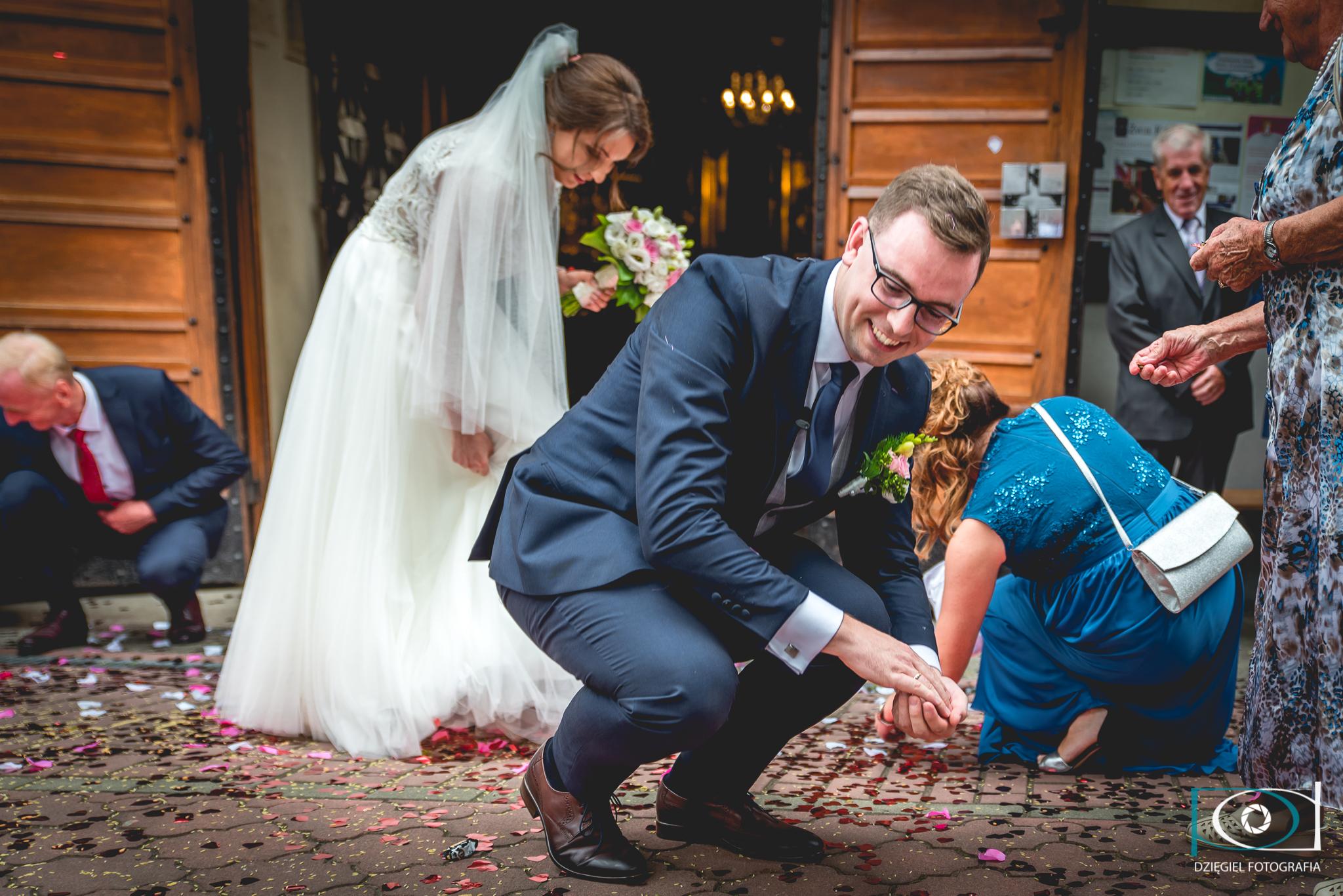 zbieranie grosików -ślub