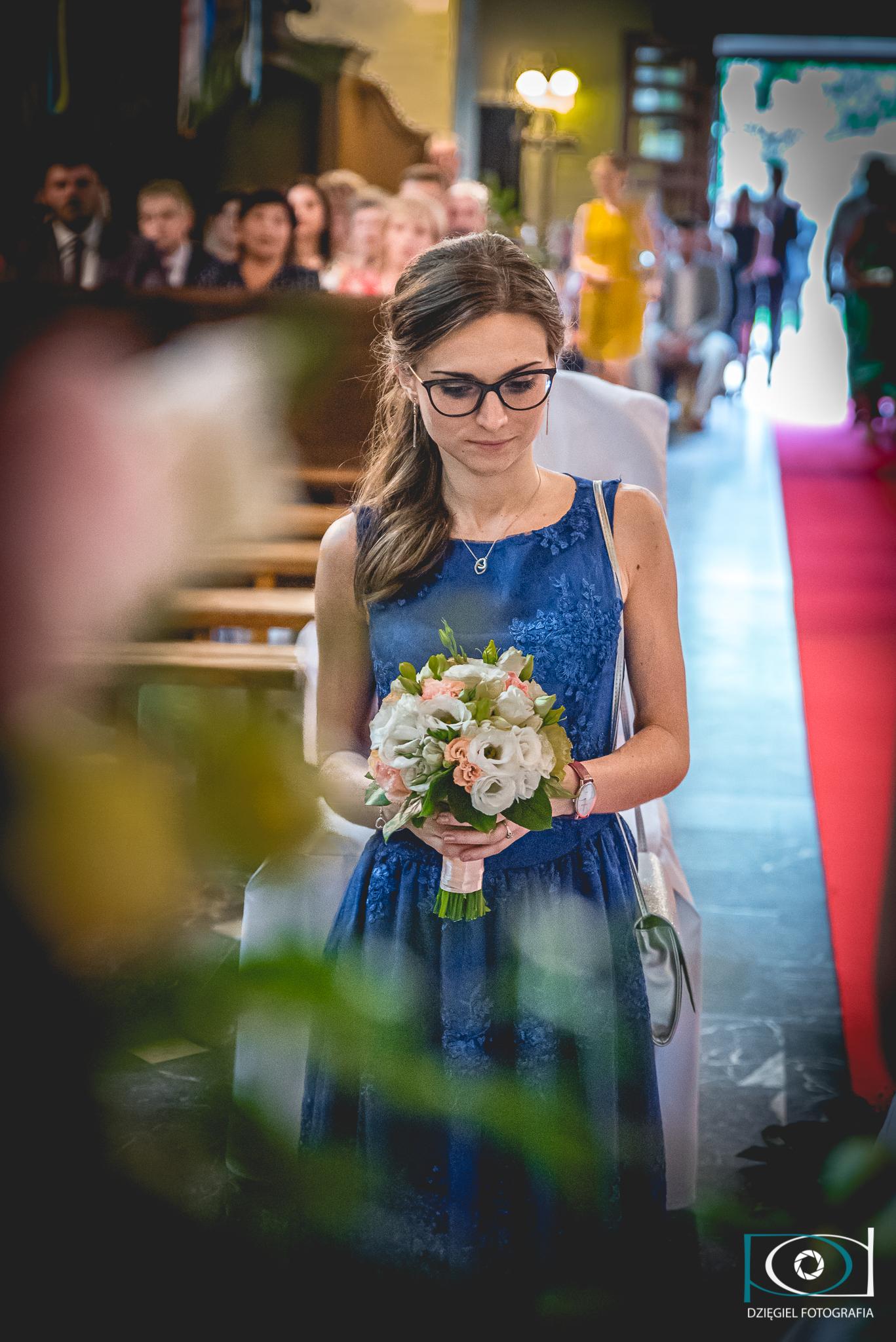 bukiet druhny -ślub